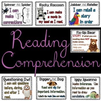 FREE Reading Strategy Posters {Beanie Babies}