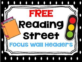 FREE Reading Street Focus Wall Headers (Polka Dot)