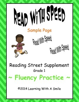 Reading Street First Grade FREE Fluency READ WITH SPEED Sample