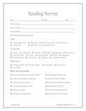 FREE Reading Survey - Great for Grades 2-6