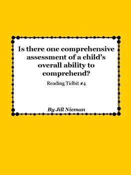 FREE Reading Tidbit #4: Assessing Comprehension