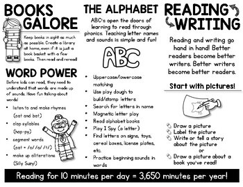 FREE Reading Tips Brochure to Parents from Teachers