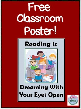 """FREE Poster """"Reading is Dreaming With Your Eyes Open"""""""