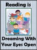 "FREE Poster ""Reading is Dreaming With Your Eyes Open"""