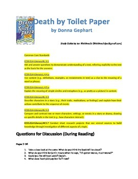 FREE Reading/Activity Guide for Death by Toilet Paper by Donna Gephart