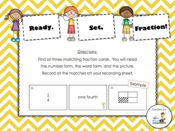 FREE Ready, Set, Fraction! Matchup (Countdown to Christmas - Day 15)