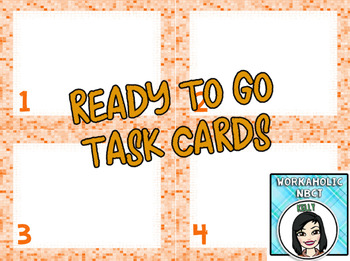 (FREE) Ready to Go Task Cards {Orange} - Just Add Text and