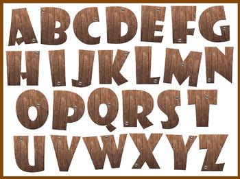 FREE Realistic Wooden Letters Clip Art Set
