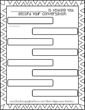 FREE Record Your Text Writing Activity- No Prep