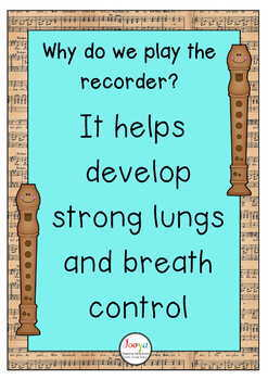 FREE Recorder Posters