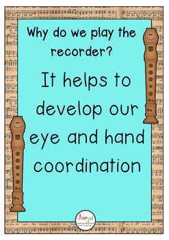 Music Class Decor - Recorder Advocacy Posters