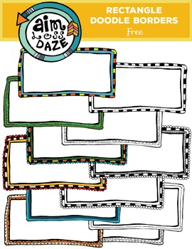 FREE-Rectangle Doodle Borders