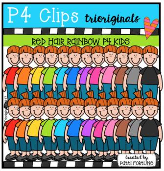 FREE Red Hair RAINBOW P4 KIDS (P4 Clips Trioriginals Clip Art)