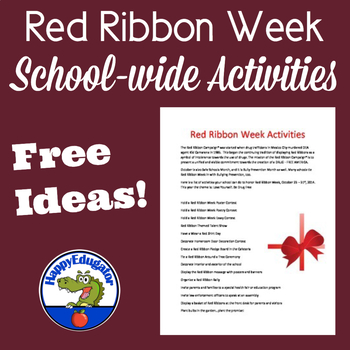 Red Ribbon Week Activities For Your School FREE by HappyEdugator ...