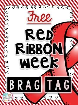 FREE Red Ribbon Week Drug Free Brag Tag