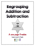 FREE Regroup Addition and Subtraction
