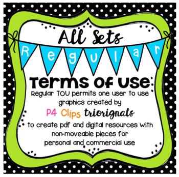 FREE Regular TERMS OF USE (P4 Clips Trioriginals Clip Art)
