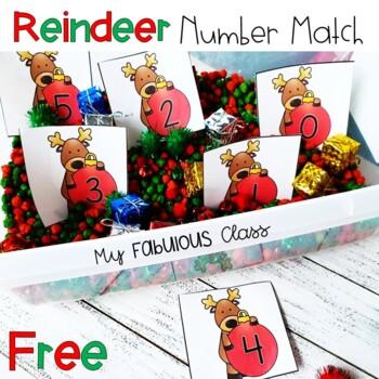 FREE Reindeer Number Match