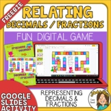 FREE Relating Fractions to Decimals Digital Board Game - G