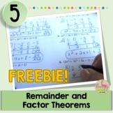 PreCalculus-Algebra 2: Remainder and Factor Theorems *FREEBIE*