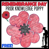 FREE Remembrance Day Activity | Prior Knowledge Poppy