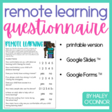 FREE Remote Learning Questionnaire {Printable, Google Slid