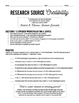 FREE! Research Source Credibility Worksheet