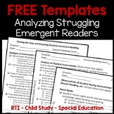 FREE Resources to Help Struggling Readers at the Emergent