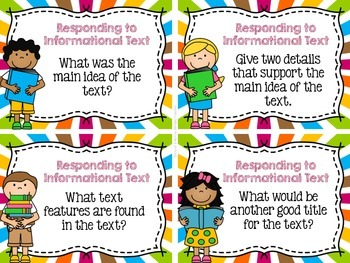 Responding to Informational Text Task Cards