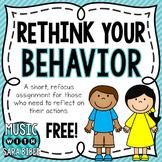 FREE! Rethink Your Behavior