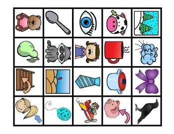 FREE Rhyming Picture Bubble Maps