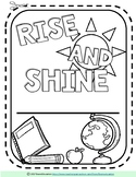 Rise and Shine Morning Work Notebook Cover