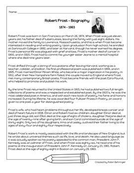 FREE Robert Frost Biography
