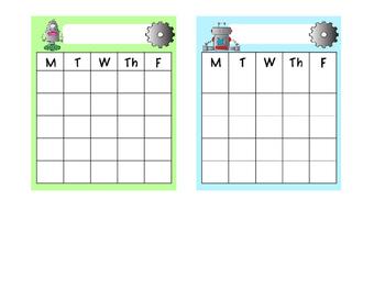 FREE Robot Behavior Sticker Charts
