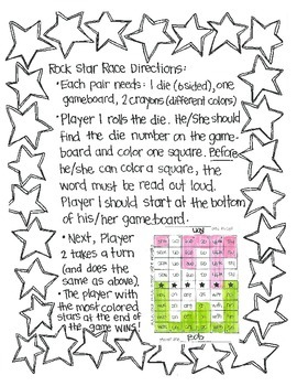 *FREE* Rock Star Races: SItton Sight Words SAMPLE
