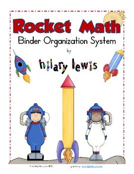 FREE Rocket Math Binder Organization Labels