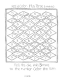 ****FREE**** Roll & Color:  Addition Game Using 6 Sided Dice