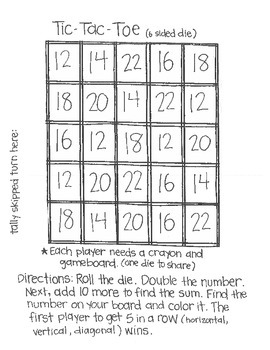 ****FREE**** Roll & Color:  Primary Math Game Using Dice