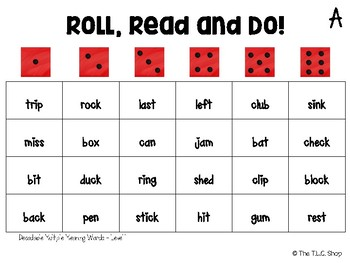FREE! Roll, Read and Do - Decodable Multiple Meaning Words