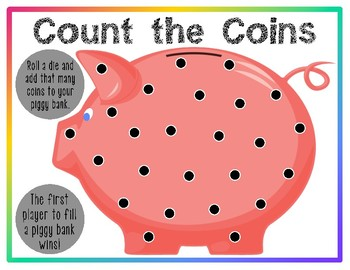 FREE Roll and Count Game Boards (PreK, K)