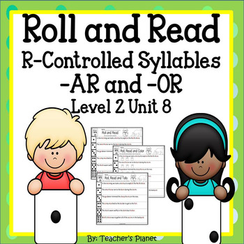 FREE Roll and Read R-Controlled Syllables -AR and -OR