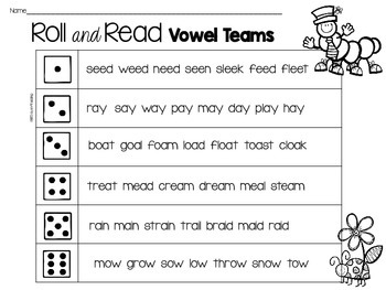 Bright image in printable reading fluency games