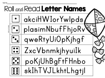 {FREE}  Roll and Read for Fluency Games: Vowel Teams, CVC, Letter Naming