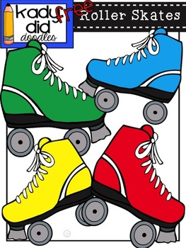 FREE Roller Skates {by Kady Did Doodles} 4 Color Images