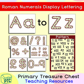 FREE Roman Numeral themed Display Lettering