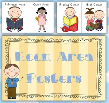 Room Area Posters - Classroom Organization