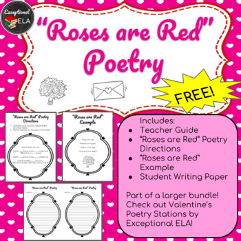 """FREE: """"Roses are Red"""" Poetry"""