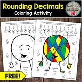 FREE Rounding Decimals Coloring Activity (FREEBIE)