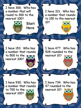 *FREE* Rounding I have, Who Has Activity:  (Nearest 10 and 100)