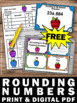 FREE Rounding Numbers 4th Grade, Place Value Task Cards, Apple Theme